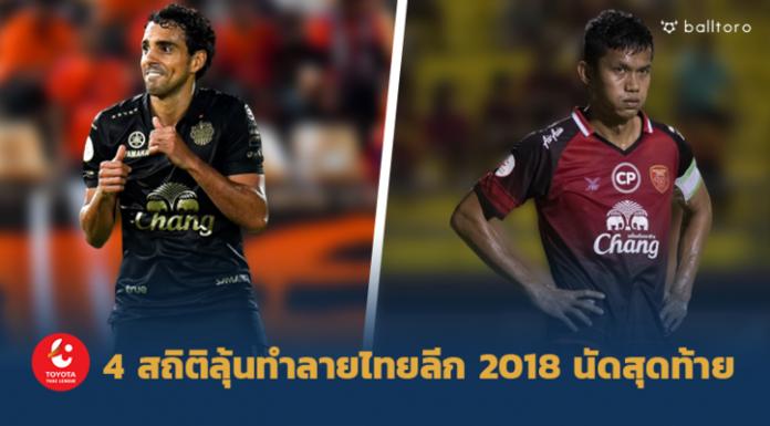 เซราะกราวลุ้นสถิติใหม่เพียบ!! 4 สถิติลุ้นถูกทำลายในไทยลีก 2018 นัดสุดท้าย