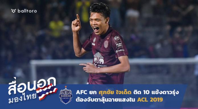 เซราะกราวมาหนึ่ง!! AFC ยก ศุภชัย ติด 10 แข้งดาวรุ่งลุ้นแจ้งเกิดใน ACL 2019