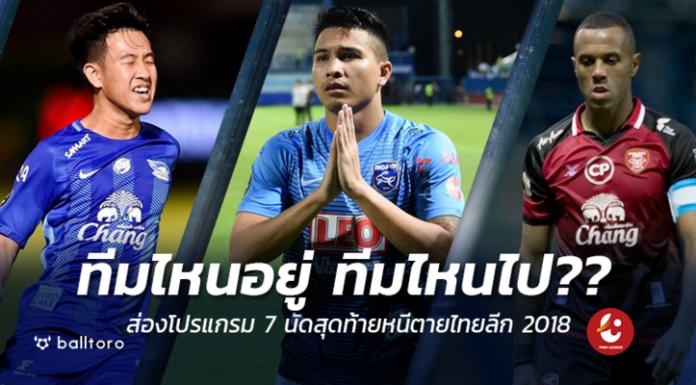 แอร์ฟอร์ซจ่อร่วง ทีมไหนจะรอดบ้าง?? ส่องโปรแกรม 7 นัดท้ายหนีตายไทยลีก 2018