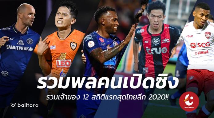 12 สถิติแรกสุดไทยลีก 2020